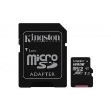 Карта памяти Kingston microSDXC 128GB Class 10 UHS-I R45/W10MB/s + SD адаптер